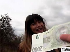 sexy russian mona kim fucks for a fist full of cash