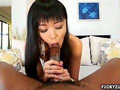 big black cock fucks that hairy asian pussy