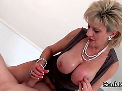 unfaithful english milf lady sonia reveals her big titties