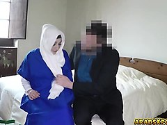 poor lonely arab sucks a big thick cock deep throat