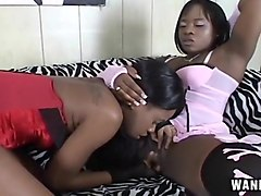 Horny Ebony Lesbians Get Off With Toys