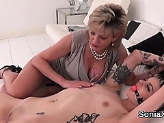 unfaithful british milf lady sonia shows her huge breasts