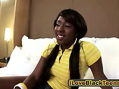 black teen school girl toying her pussy with vibrator