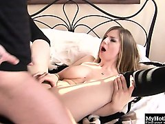 stella cox always keeps her hair brushed and pussy...