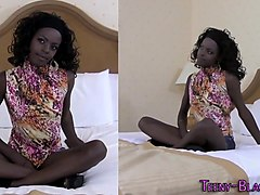 Skinny black teen facial