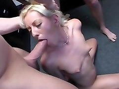 Horny pornstar in hottest blowjob, gangbang adult scene