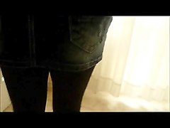 crossdresser - leggins and miniskirt -