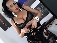 transbella - nasty shemale graziella toledo sucks cock and gets fucked - italian