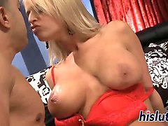 big tits bounce on a throbbing member