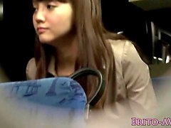 japanese beauty dicksucking on public bus