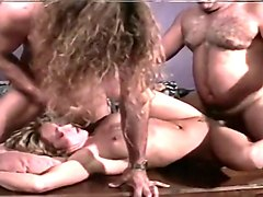 Blond Whore gets Tag-Teamed and Reamed!