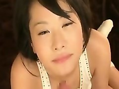 irresistible asian bimbo experiments with sucking a huge di