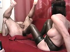 Foot fisting Latex Struempfe stockings Fuss Anal ass footing