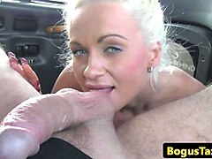 finnish taxi babe fucks cock between bigtits