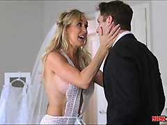 cougar brandi love sucks the grooms dick