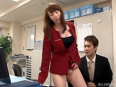 sexy office worker yui hatano taking it from the behind