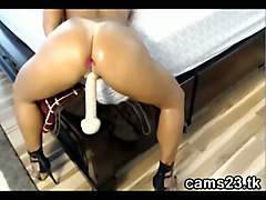homemade video of a hot milf with a nice butt who loves riding her dildo