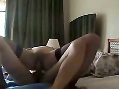 my sexy gf in stockings gets her yoni poked hard with my cock