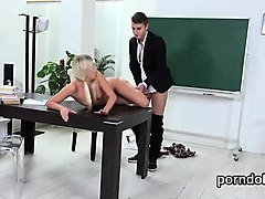erotic college girl is tempted and banged by her older lectu