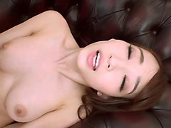 petite asian brunette riding a thick dong with pleasure