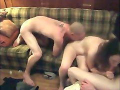 whorable brunette gal agreed to take double penetration at once (mmf)