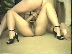Creampie fuck in black high heels