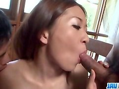 risa misaki endures cock in each of her creamy holes