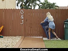 exxxtrasmall- cute blonde caught spying