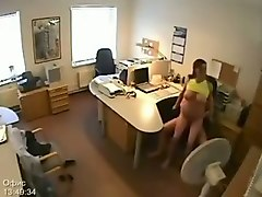 my sexy brunette gf sucks and rides my cock at work