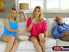 Blonde stepmom and teen hot lesbian sex