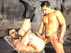 Damien Crosse & Topher Di Maggio in Batman V Superman : A Gay XXX Parody Part 1 - DrillMyHole