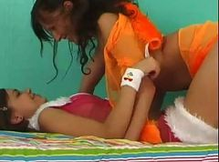 two lesbian teenagers share their vibrators