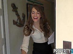 PropertySex Insanely Hot Real Estate Agent Flirts With Client and Fucks on Camera