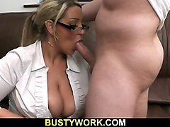 he nails hot big fatty at work