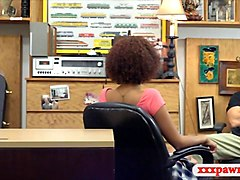 huge boobs ebony pounded by pawn dude in the backroom