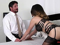 big tits stepmom cheats on husband with real