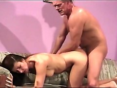 Dick Nasty gives Mariam a Hard Doggy Style Fucking on Sofa