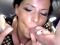 Brunette creampie and cum eating 2 part 2