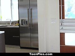 TeenPies - BF accidentally creampies Teen gf for baby