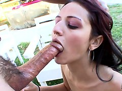 Marissa Mendoza & Sergio in Sergio And Marissa Mendoza Get It On Outside - MakeThemGag
