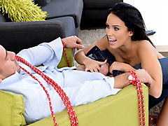Megan Rain & Johnny Castle in A Girl Tied Me Up - Brazzers