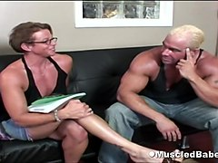 Muscled couple have hot porno