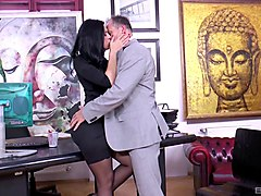 alluring kira queen wants to get bonked right there in the office