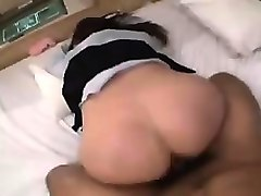 stunning asian babe gives a nice blowjob and begs to be dri