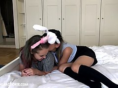sweet amateur interracial teens making out