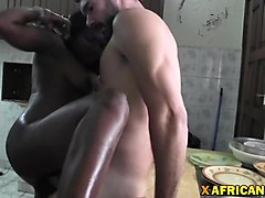 beautiful black lady bareback fucking by white cock tourist