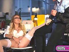 hot office slut natalia starr pussy fucked by police officer