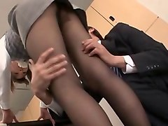 babe in stockings lovely banged hardcore while yelling in office
