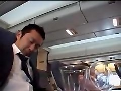 japanese stewardess handjob part 1