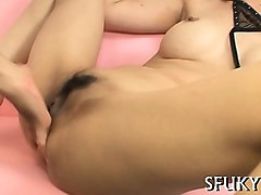 asian slut begs for hard dick to dangle her lips on